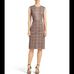 Donna Karan Snakeskin Sleeveless Sheath Dress